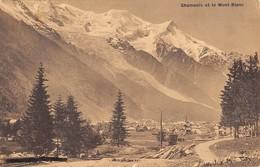 """07653 """"CHAMONIX ET LE MONT BLANC"""" CART. ORIG. SPED. '913. - Chamonix-Mont-Blanc"""