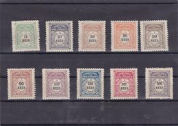 Portugal -companhia De Moçambique 10 Selos Completa 1 A 10 Novos C/ Charneira -emissão Regular De 1906 - Mozambique