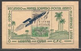 Cuba 1938 - Esperimento Di Posta Con Razzo - Cartolina Ricordo        (g5495h) - Cuba