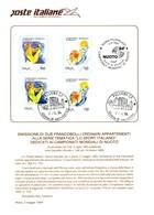 Italia 1994 BOLLETTINO ILLUSTRATIVO N.11 CAMPIONATI MONDIALI DI NUOTO.CON SERIE 2 VALORI ANNULLO FDC. - Zonder Classificatie