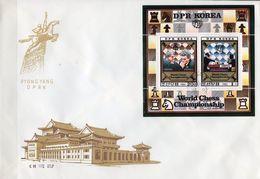 WM Schach-Turnier 1980 Korea 2074/5 KB FDC 42€ Championat Phillipinen Hojas M/s Bloc S/s Sheet Chess Cover Bf COREE - Schaken