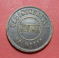 SWEDEN CASINOKONSULT HALMSTAD JETON, 23.5 Mm. - Casino