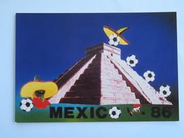 Carte Postale :  Football : Dessin MEXICO 1986, Carte N° 11/150 Signée Par L'auteur(?) - Mexique