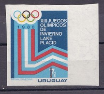 XIII JUEGOS OLIMPICOS INVIERNO LAKE PLACID 1980. URUGUAY. VIGNETTE VIÑETA  - BLEUP - Inverno1980: Lake Placid