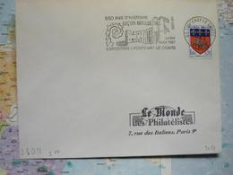650 Ans D'histoire Luçon-Maillezais Juillet Aout 1967 Exposition Fontenay Le Comte 1967 - Marcophilie (Lettres)