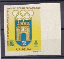 XIII JUEGOS OLIMPICOS INVIERNO LAKE PLACID 1980 COMITE ORGANIZADOR LA 81° SESION COI. URUGUAY. VIGNETTE VIÑETA  - BLEUP - Winter 1980: Lake Placid