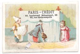 RARE Chromo, Victorian Trade Card. Scène De Personnages Curieux. Edouard De Beaumont. Testu Massin 32-1/54. - Autres