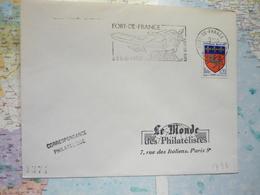 Fort De France à 9 H De Paris Sans Escale - Marcophilie (Lettres)
