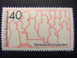 ALEMANIA FEDERAL 1974 Rehabilitacion De Minusvalidos Yvert 645 ** MNH - Handicaps