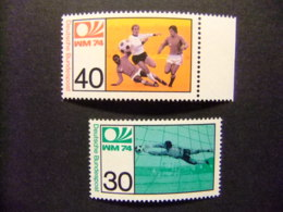 ALEMANIA FEDERAL 1974 Copa Del Mundo De Futbool Yvert 657 / 58 ** MNH - Copa Mundial