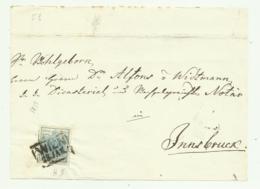FRANCOBOLLO DA 9  KREUZER WIEN 1857   SU FRONTESPIZIO - 1850-1918 Imperium
