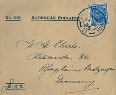 1934 , IRLANDA , SOBRE CIRCULADO  ( DUBLIN ) BAILE ATHA CLIATH - PFORZHEIM - 1922-37 Irischer Freistaat