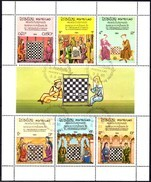 Historisches Schach-Spiel Laos 727/3 Als Kleinbogen O 8€ Schachfigur 1984 Hb Bloc Chess M/s Sport Sheetlet Bf Lao - Games