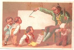 Chromo, Victorian Trade Card. Les écoliers. La Leçon, L'ane. Testu Massin 32-21/2 - Autres