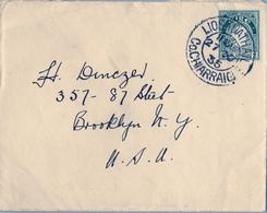 1935 , IRLANDA , SOBRE  CIRCULADO  ( LISTOWEL ) LIOS TUATHAIL - BROOKLYN - 1922-37 Estado Libre Irlandés