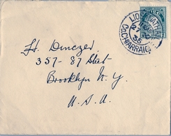 1935 , IRLANDA , SOBRE  CIRCULADO  ( LISTOWEL ) LIOS TUATHAIL - BROOKLYN - 1922-37 Stato Libero D'Irlanda
