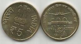 India 5 Rupees 2011. CIVIL AVIATION - Inde
