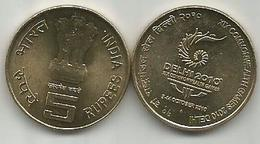 India 5 Rupees 2010. COMMONWEALTH GAMES - Inde