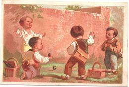Chromo, Victorian Trade Card. Les écoliers. Le Jeu De La Tupie. Testu Massin 32-22/1 - Autres