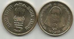 India 5 Rupees 2009. SANTA ALFONSA - Inde