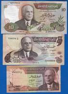 Tunisie  3  Billets  Dans  L'etat - Tunisie