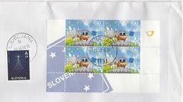 Slovenia Mail To France Lettre Slovénie Pour La France 2007 Entrance In The Schengen Area Espace Border Frontière Europe - Slovenia
