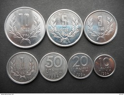 ARMENIA 10,20,50 LUMI 1,3,5,10 DRAM   7 COINS 1994 - Armenia