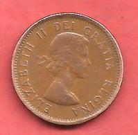 1 Cent , CANADA , Bronze , 1961 , N°# 49 - Canada