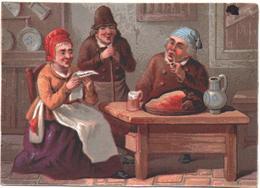 RARE Chromo, Victorian Trade Card. Bretons, La Lecture D'une Lettre En Famille. Testu Massin 32-37/1 - Autres