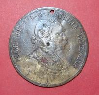 GERMANY - AUSTRIA FRANZ JOSEPH 4 DUCATS 1904 TOKEN, 39.5 Mm. - Elongated Coins