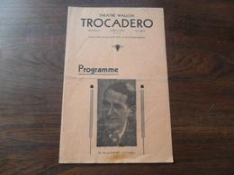 ANCIEN PROGRAMME / THEATRE WALLON DU TROCADERO / AOUT 1941 - Programmes