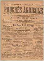 LE PROGRES AGRICOLE -52è Année-N°2615-DIMANCHE 4 SEPTEMBRE 1938 - Altri