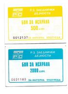 Yugoslavia Macedonia Radia And Televizion  2 BON Money For FOOD - Yougoslavie