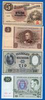 Suéde  4  Billets - Suède