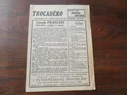 ANCIEN PROGRAMME / THEATRE WALLON DU TROCADERO / 26ième  ANNEE / 1942 - Programmes