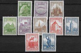 Danemark 1953-1956 N° 347/349, 353/357, 360/361 Série Neuve** MNH Millénaire Du Royaume - Danemark
