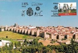 SPAIN. MAXICARD FIRST DAY. AVILA WALL. 2018 - Tarjetas Máxima