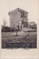 Carte Photo : Maison Bombardée Par Les Gothas Rue Brillet à Le Perreux (94) Mars 1918  Rare - Lieux