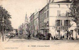 Niort X 3 - Avenue Bujault , Café Robinet , Attelage - Niort
