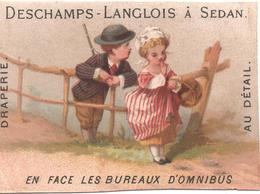 Chromo, Victorian Trade Card. Chasseur Et Paysanne. Testu Massin 32-49/2 - Autres