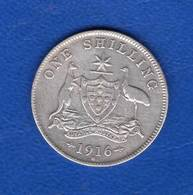 Australie  Shilling  1916 M - Monnaie Pré-décimale (1910-1965)