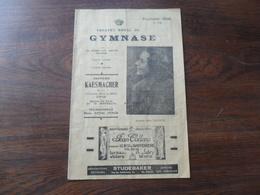 ANCIEN PROGRAMME / THEATRE ROYAL DU GYMNASE / SAISON 1942 -1943 - Programmes