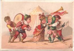 Chromo, Victorian Trade Card. La Vie Des Soldats Du Moyen-Age. La Dispute. Testu Massin 32-55bis/4 - Autres