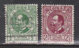 IRELAND Scott # 124-5 Used - Doctor Douglas Hyde - Unused Stamps