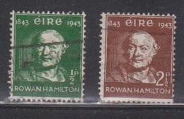 IRELAND Scott # 126-7 Used - Sir Rowan Hamilton - Unused Stamps