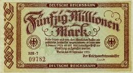 Notgeld Reichsbahn 50  Millionen Mark  Berlin - [ 3] 1918-1933 : Repubblica  Di Weimar
