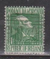 IRELAND Scott # 141 Used - James Clarence Mangen - Unused Stamps
