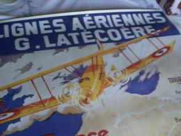 Affiche Air France  LIGNES AERIENNES G. LATECOERE -collection Musée N°A 315 Réédition 1998 -imp. Serag RC PONTOISE - Posters