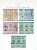 CEYLON...early Queen Victoria REVENUES...1889 Overprints...3-part - Ceylon (...-1947)