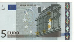 "5 EURO  ""E""  SLOVAKIA     Firma Trichet     E 010  E2     /  FDS - UNC - EURO"